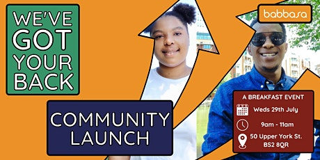 Community Coffee Mornings - 'We've Got Your Back' Community Launch tickets