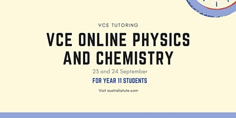 VCE Physics and VCE Chemistry (Online Seminar) tickets