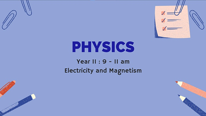 VCE Physics and VCE Chemistry (Online Seminar) image