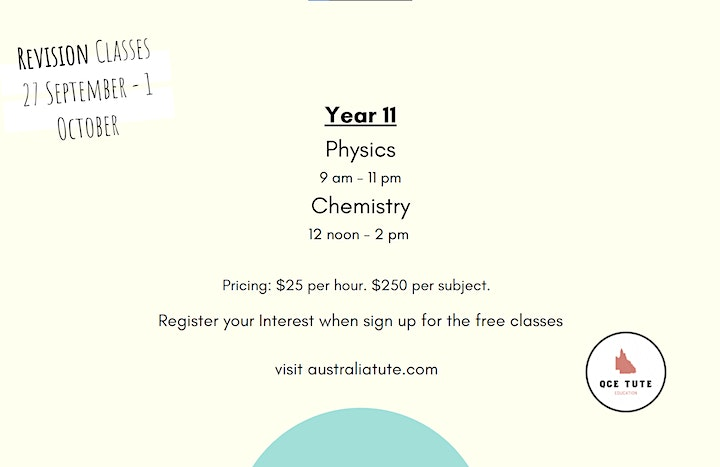 Year 11 QCE Chemistry and QCE Physics (Online) image