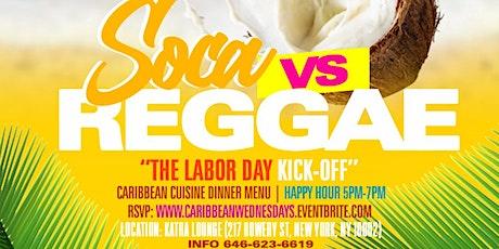 Caribbean Wednesdays Presents Reggae vs Soca | Happy Hour 5pm-7pm tickets