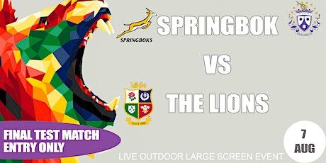 FINAL TEST MATCH - Springbok VS British & Irish Lions tickets