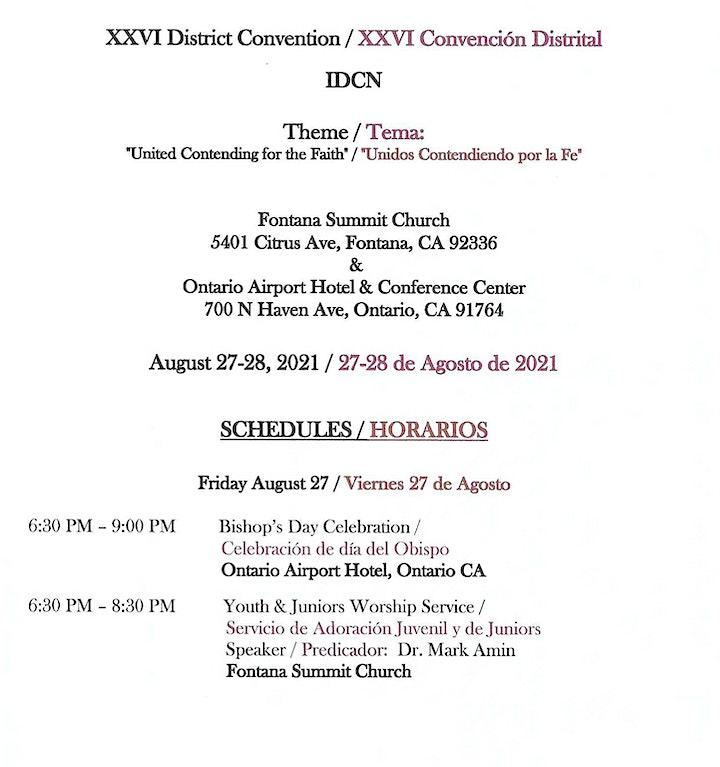 IDCN DISTRICT CONVENTION 2021 image