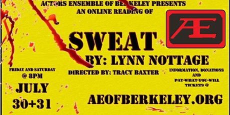 SWEAT, by Lynn Nottage, directed by Tracy Baxter tickets
