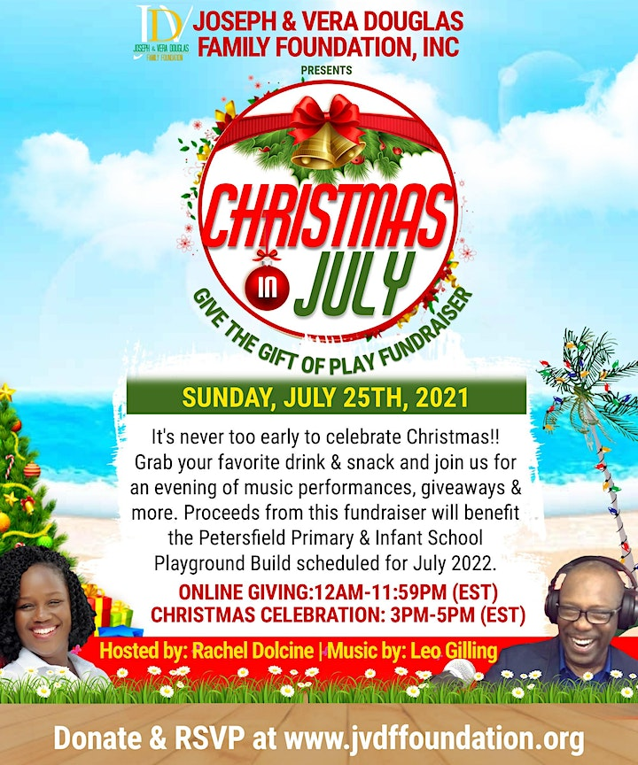 Christmas in July Celebration: Gift of Play Fundraiser image