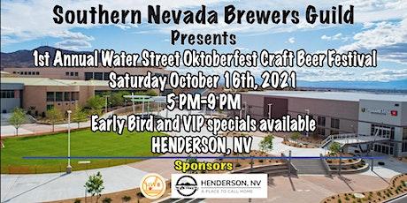 1st Annual Water Street OktoberFest Beer Festival tickets