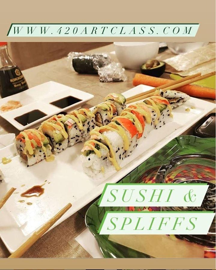 Sushi & Spliff Rolling You must be 21 and older to experience image