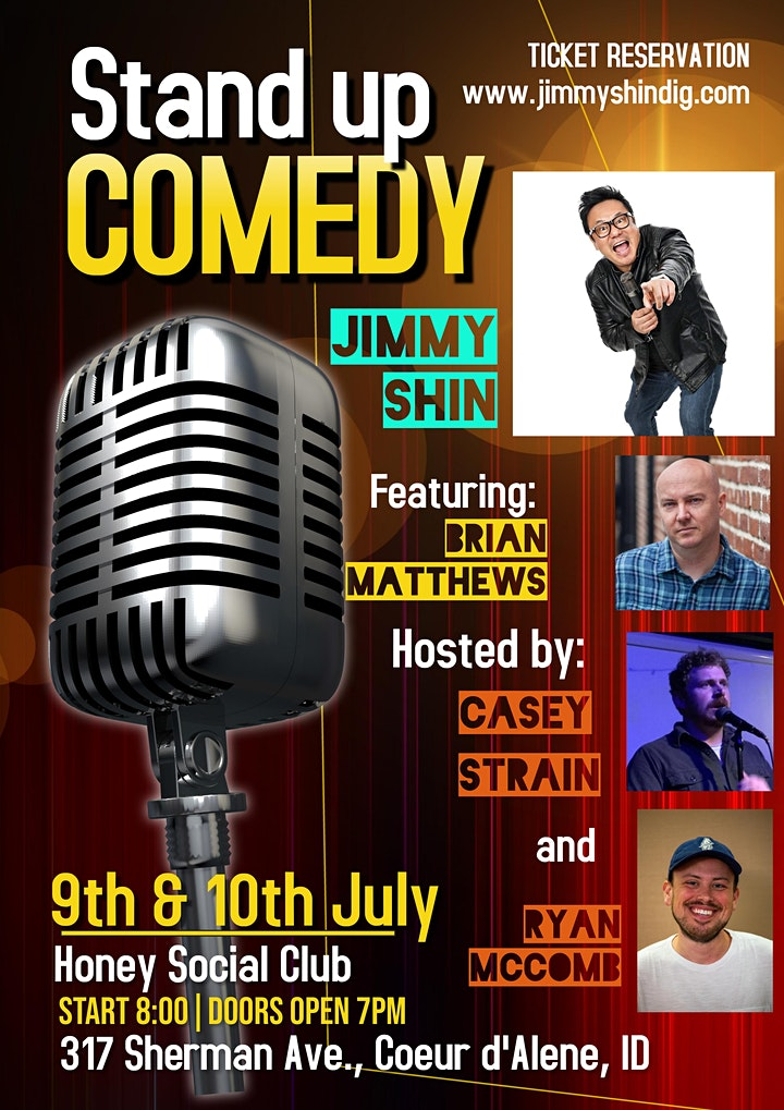 Wok of Shame Comedy Tour with Jimmy Shin comes to Honey! image