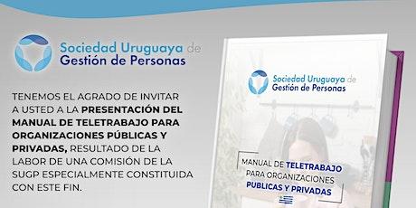 Presentación:Manual de teletrabajo para organizaciones públicas y privadas. entradas