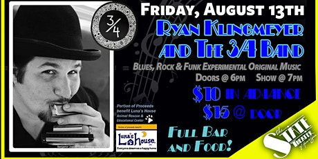 Ryan Klingmeyer & The 3/4 Band with Rachel Hall - Blues, Rock & Funk tickets