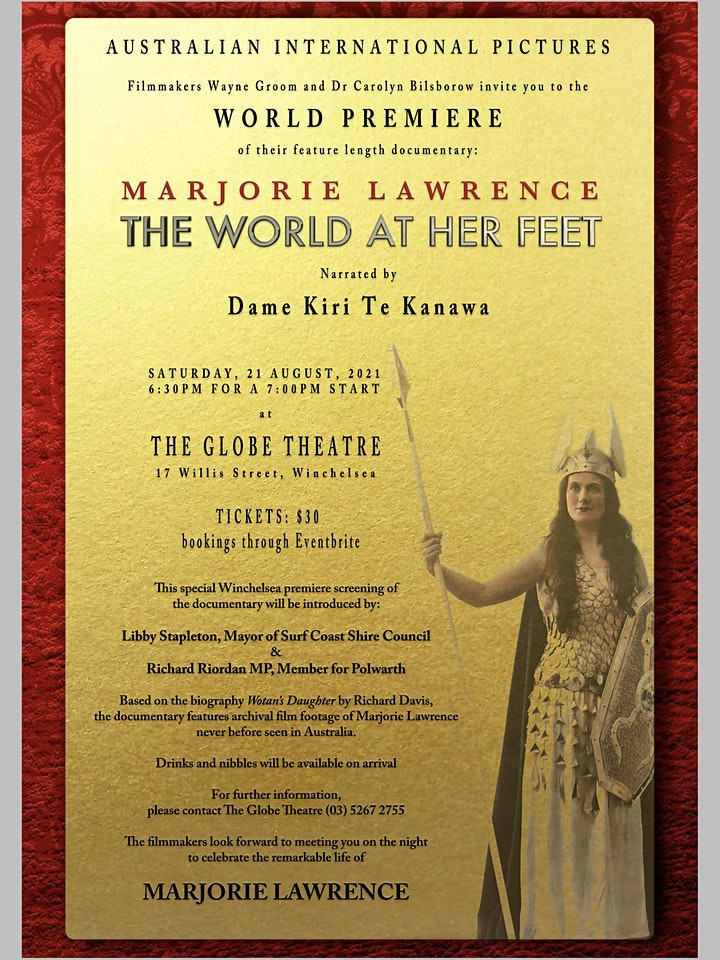 Marjorie Lawrence: The World At Her Feet (World Premiere) image