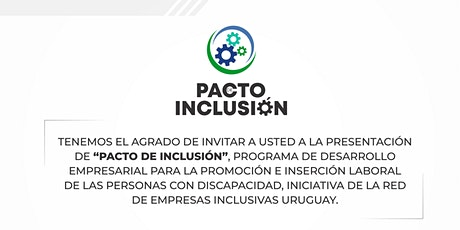 """Presentación de """"Pacto de inclusión"""" tickets"""