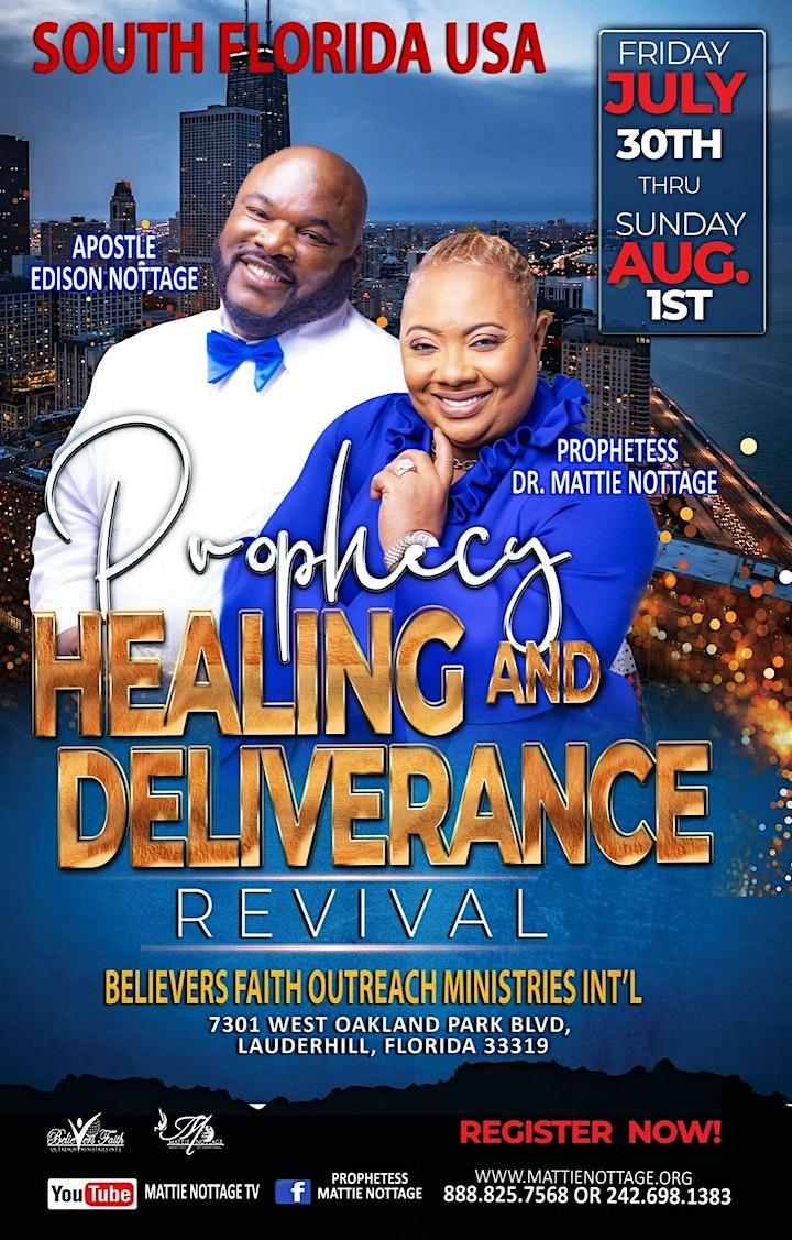 SOUTH FLORIDA, USA REVIVAL -  PROPHECY, HEALING & DELIVERANCE REVIVAL!! image