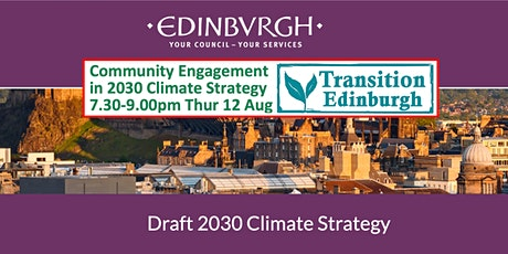 Community Engagement in the 2030 Climate Strategy 7.30-9.00pm Thur 12 Aug tickets