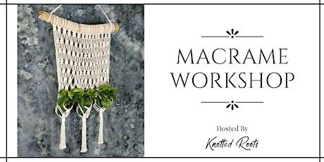 Macrame Plant Pocket Workshop tickets