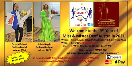 Welcome to the 9th Year of Miss & Mister Deaf Australia 2021 tickets