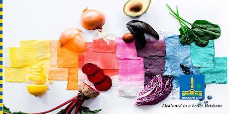 How to make natural vegetable dyes - artist workshop tickets