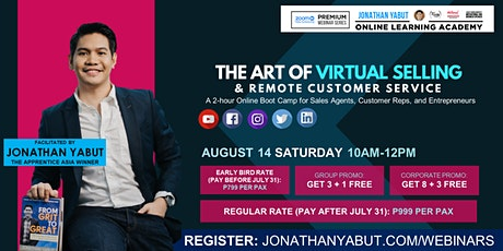 The  Art of Virtual Selling & Remote Customer Service tickets