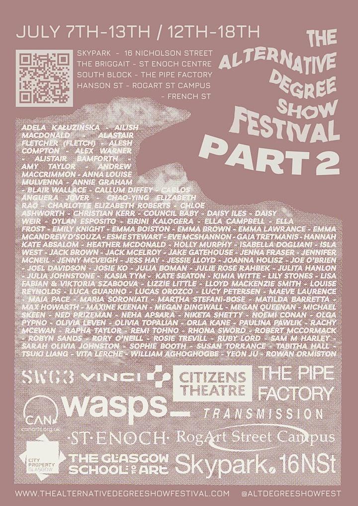 The Alternative Degree Show Festival Part 2 @ 16 Nicholson Street image