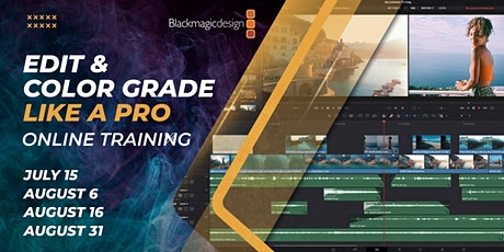 Edit & Color Grade Like a Pro - Online Training tickets