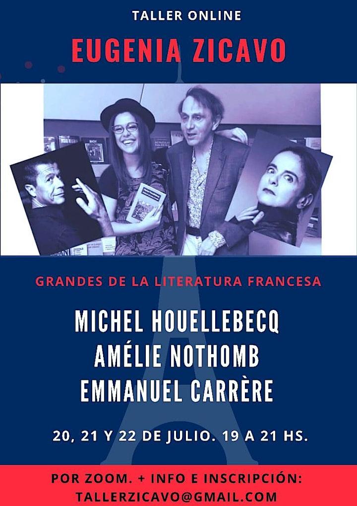 Imagen de Taller Esenciales de las Letras Francesas: Houellebecq, Nothomb, Carrère.