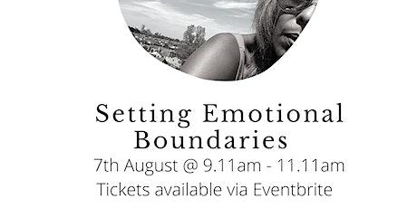 Setting Emotional Boundaries Through Self Love tickets