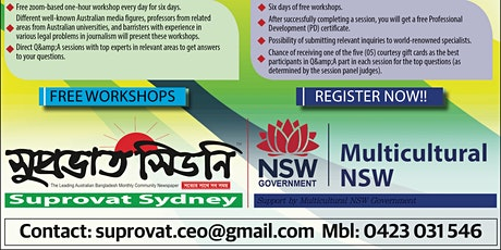 Journalism Workshop Series for Ethnic and Community Media in Australia tickets
