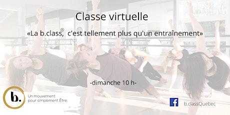 b. class® virtuelle des dimanches avec Guylaine billets