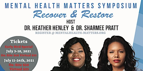 Mental Health Matters Symposium  Recover & Restore tickets