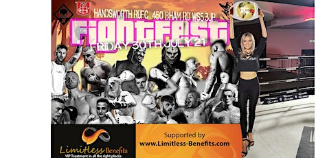 FLUK Boxing Fightfest with Limitless Benefits Ring Girls Birmingham tickets