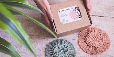 Coaster weaving workshop tickets