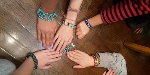 Kids Cross Weave Bracelet Class - Jewelry Class