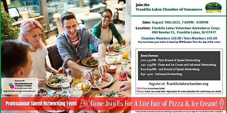 Franklin Lakes Professional Speed Networking (Pizza & Ice Cream) Event tickets