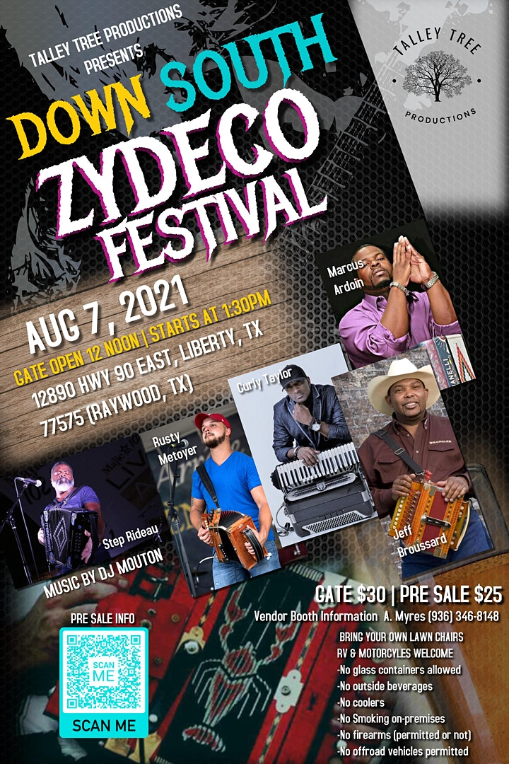 Talley Tree Productions presents 1st Annual Down South Zydeco image