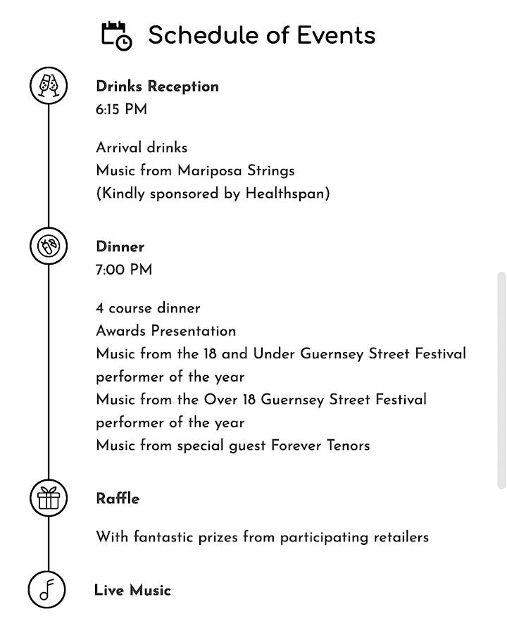 Guernsey Street Festival Awards Dinner 2021 image