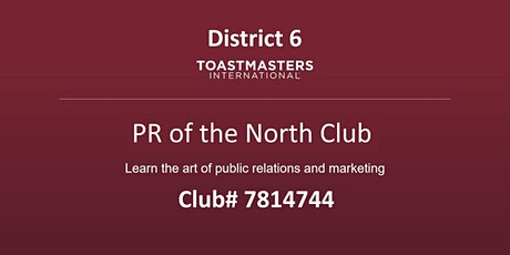 PR of the North Toastmasters meeting tickets