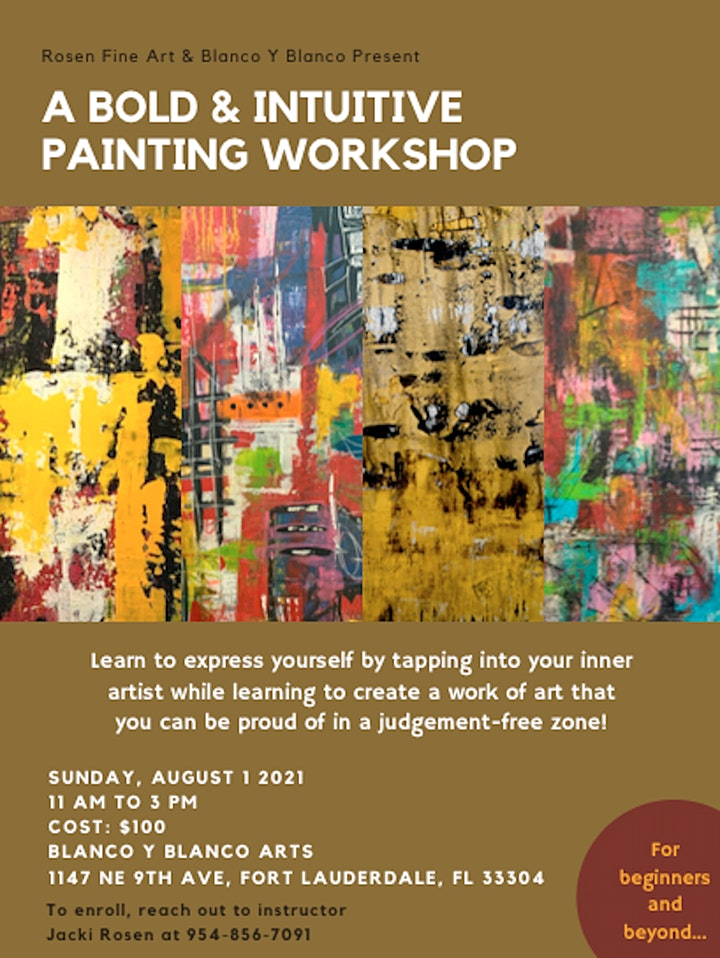 A BOLD and INTUITIVE PAINTING WORKSHOP image