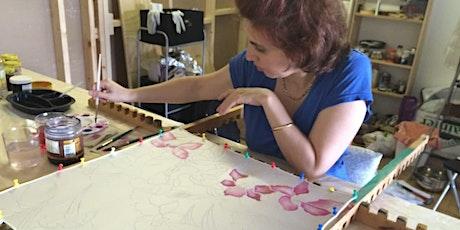 Atelier Batik moderne (bloc impression) - Silk Painting Workshop tickets