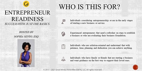 ENTREPRENEUR READINESS: How to Build a Business tickets
