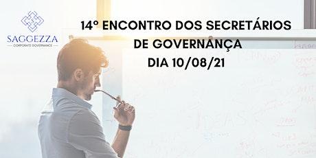 14° ENCONTRO DOS SECRETÁRIOS DE GOVERNANÇA bilhetes
