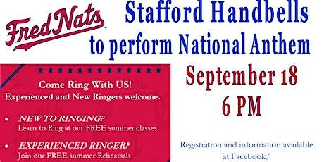 Ring National Anthem at Frederickburg Nationals tickets
