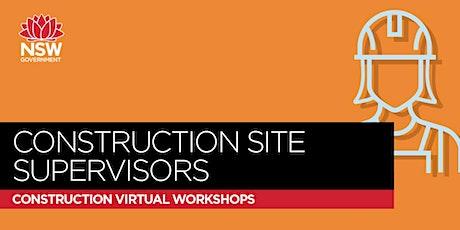 SafeWork NSW - Construction Site Supervisors Workshop - Module 3 tickets