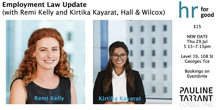 NEW DATE - 29 JULY - Employment Law Update image