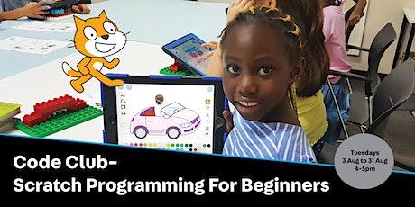 POSTPONED: Code Club - Scratch Programming for Beginners tickets