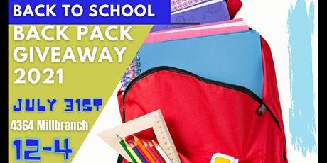 Backpack Give Away tickets
