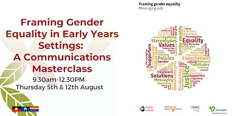 Framing Gender Equality in Early Years Settings: Communication Masterclass tickets