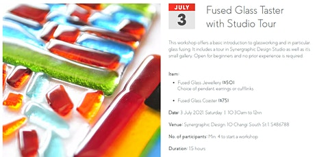 Glass Fusing Taster Workshop with Studio Tour (Jewelry) tickets