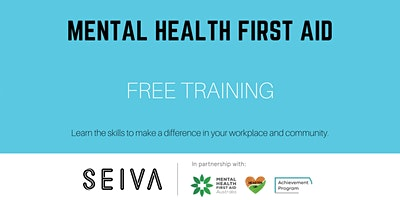 Workplace Mental Health First Aid, Group 8: Wed 11/8 + Wed 18/8