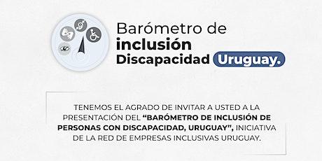 """Presentación del """"Barómetro de inclusión discapacidad Uruguay"""" entradas"""