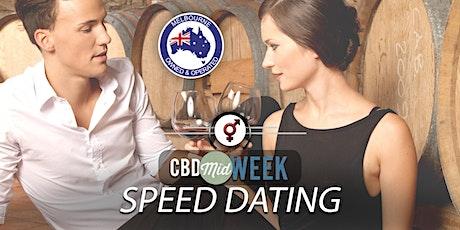 CBD Midweek Speed Dating | F 30-40, M 30-42 | August tickets